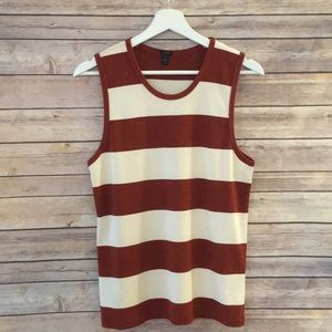 Jcrew perfect fit striped shell top